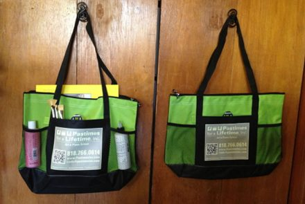 Zippered Tote Bag with Pockets