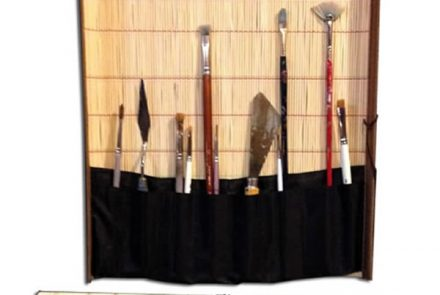 Bamboo & Cloth Brush Holder