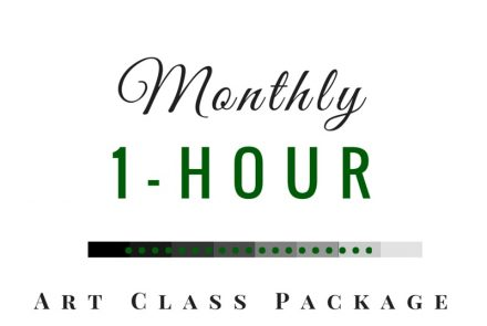 Monthly 1-Hour Art Class Package at $28/Class