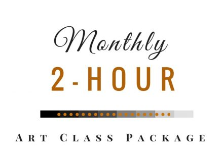 Monthly 2-Hour Art Class Package at $50/Class