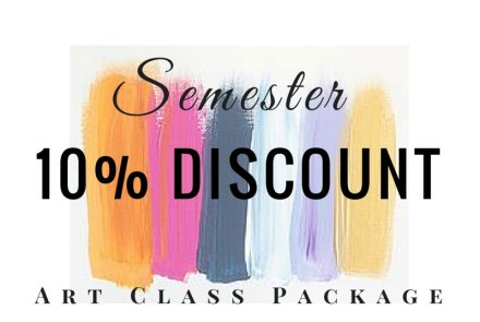 3-Month Semester Art Class Package with 10% Discount