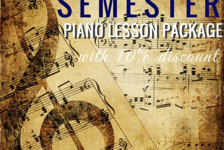 Semester Piano Lesson Package with 10% Discount