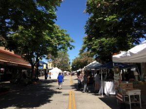 Downtown Burbank Arts Fest Looking towards Orange Grove