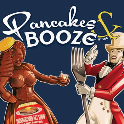 Pancakes & Booze Art Show, Pastimes for a Lifetime students participate