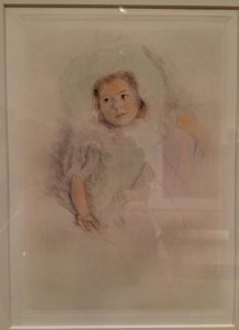 Margot Wearing a Bonnet circa 1902 Color drypoint etching Mary Stevenson Cassatt