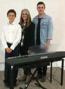 Aidan Caplan, Linda Wehrli and Cameron Carr