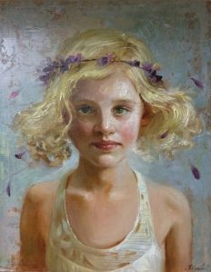 Regina Lyubovnaya Young Girl Portrait Oil