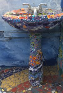 Mosaic Tile House Sink