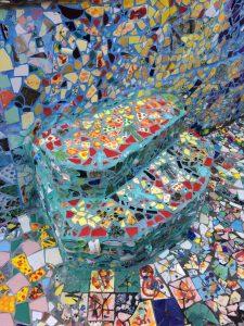 Mosaic Tile House Steps