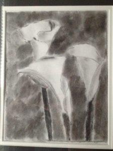 Charcoal Calla Lillies by Zubin Grogg
