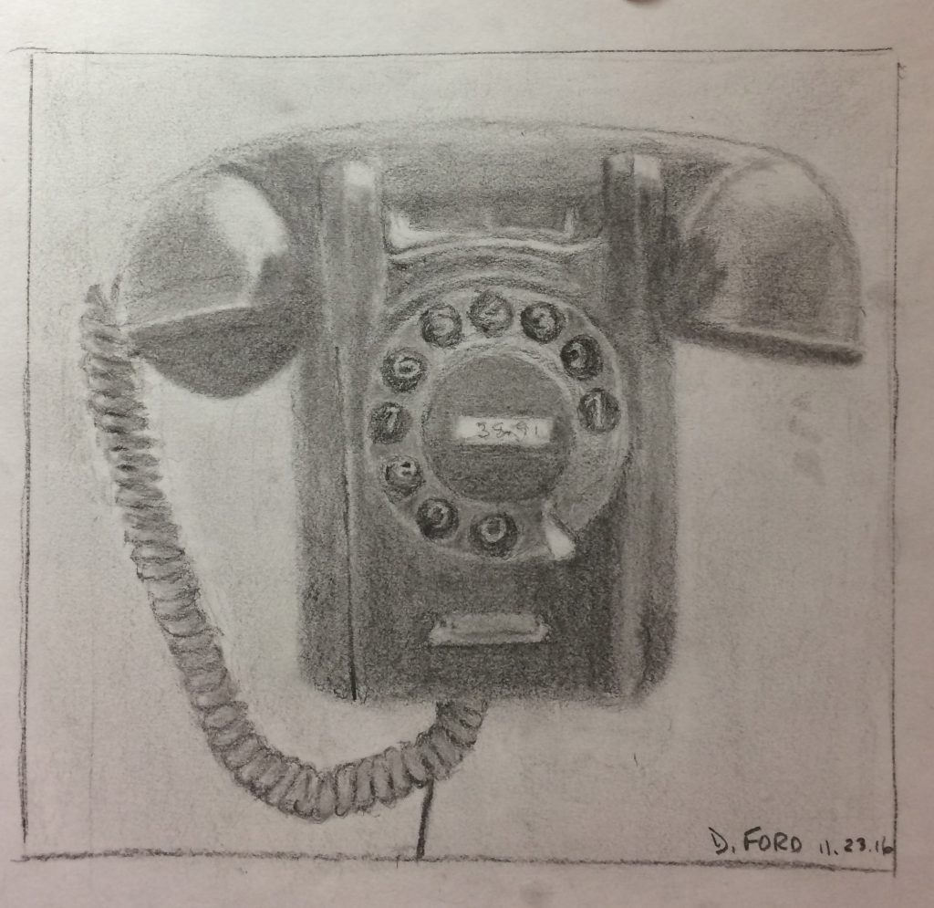 David F., Telephone, Graphite