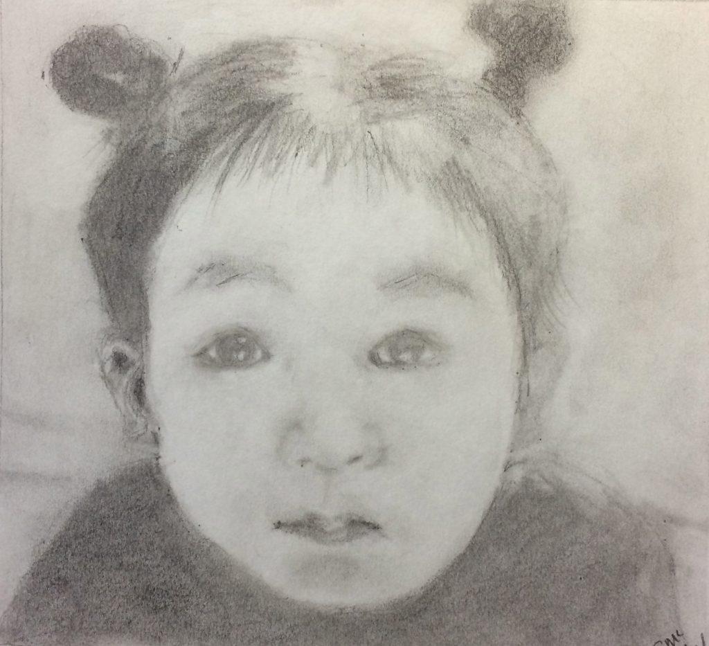 Susan M., Portrait, Graphite