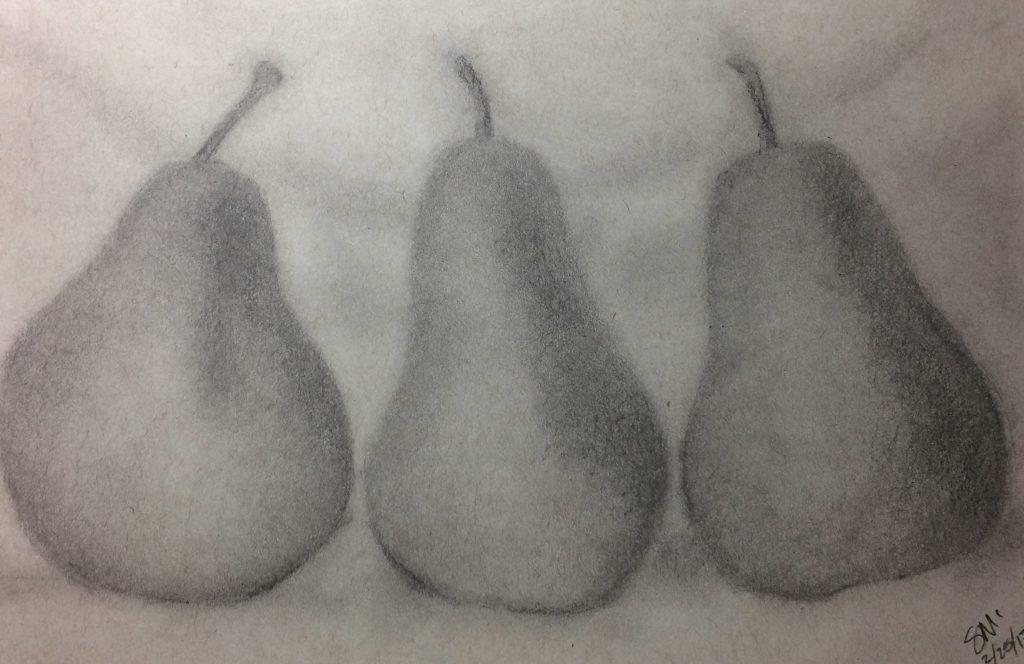 Susan M., Pears, Graphite