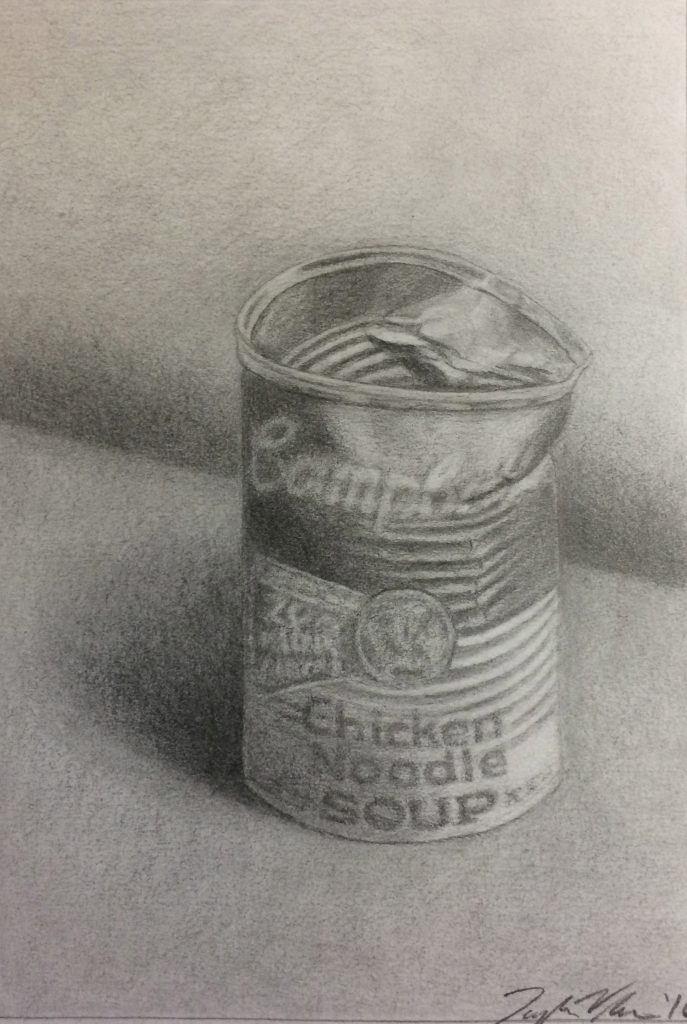 Taylor V., Campbell's Soup Can, Graphite
