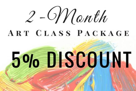 2-Month Art Class Package with 5% Discount
