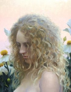 """Matilija Poppy"" Oil by Jeremy Lipking"