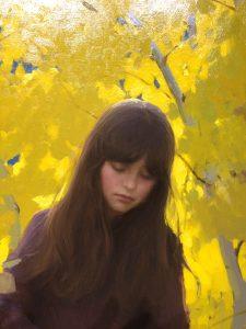 """""""Fall Aspens"""" oil by Jeremy Lipking"""