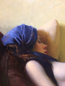 """Reclining Nude"" by Jeremy Lipking"
