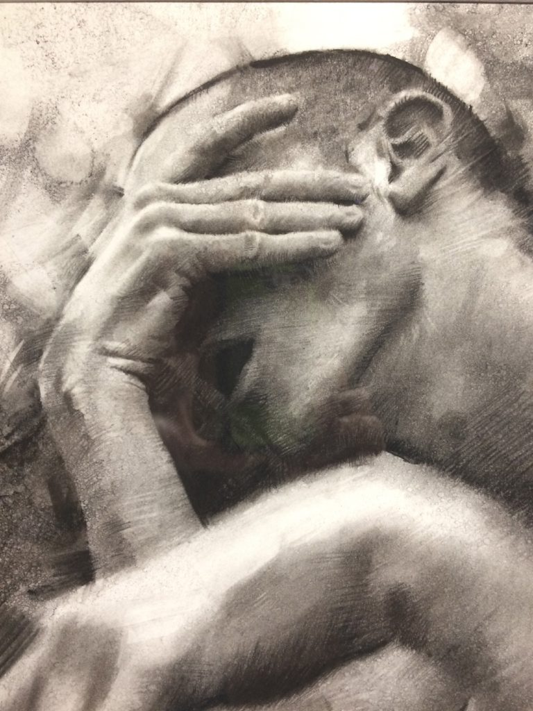 "CASEY BAUGH - ""Days of Longing"" - Charcoal on Paper - 11 x 16 inches"