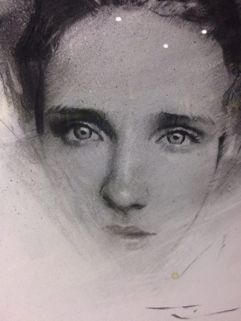 "CASEY BAUGH - ""Vision"" - Charcoal on Paper - 11 x 8 inches"