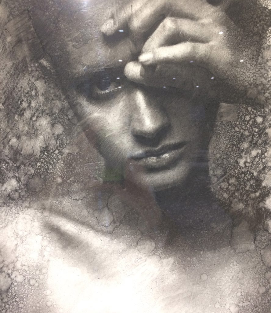 "CASEY BAUGH - ""Two Hundred Words"" - Charcoal on Paper 18 x 14 inches"