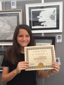Pastimes for a Lifetime Student exhibitors receive a Certificate of Merit