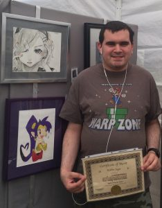 Pastimes for a Lifetime Student exhibitors receive a Certificate of Merit at the Downtown Burbank Arts Festival