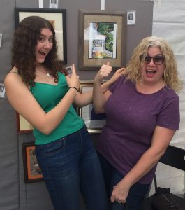 Parents enjoy Pastimes for a Lifetime's Student Art Showcase