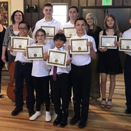 2017 June Student Piano Concert Group