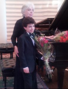 Benjamin Krasner and Piano Teacher
