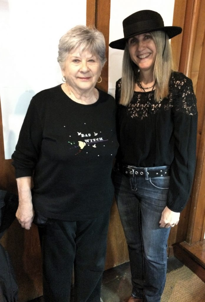 Linda Wehrli and Judy Price at Pastimes for a Lifetime's 2017 Halloween Party