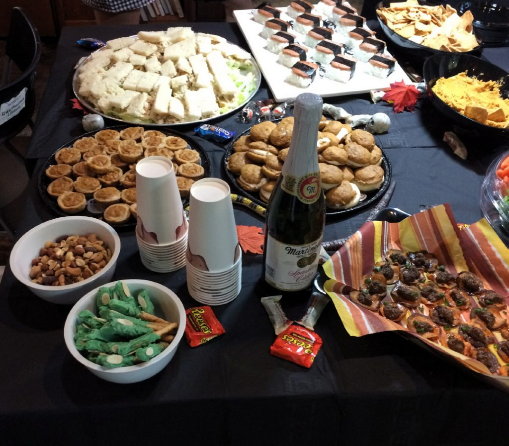 Refreshments Table at Pastimes for a Lifetime's 2017 Halloween Party