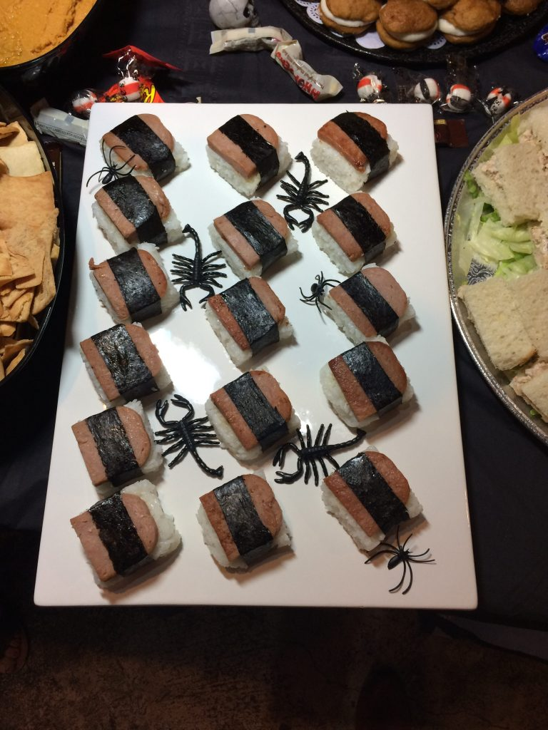 Tomomi's Platter for Pastimes for a Lifetime's 2017 Halloween Refreshments Table