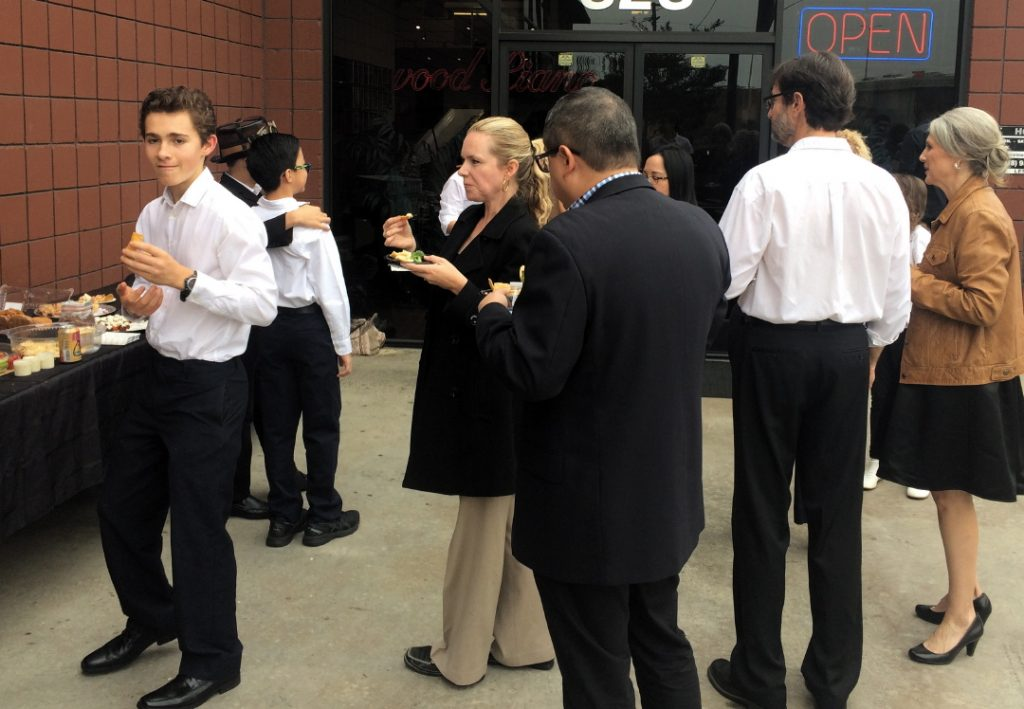Refreshments were served after Pastimes for a Lifetime's 2017 Fall Student Concert
