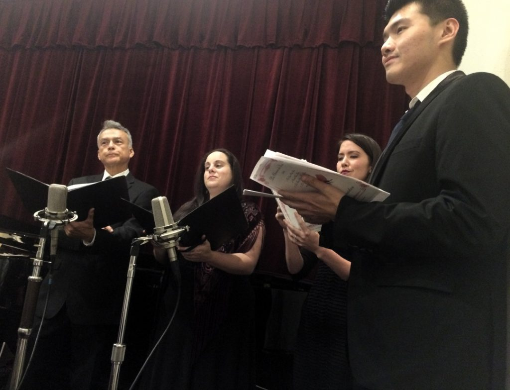 Singers at Pastimes for a Lifetime's 2017 Fall Student Piano Concert