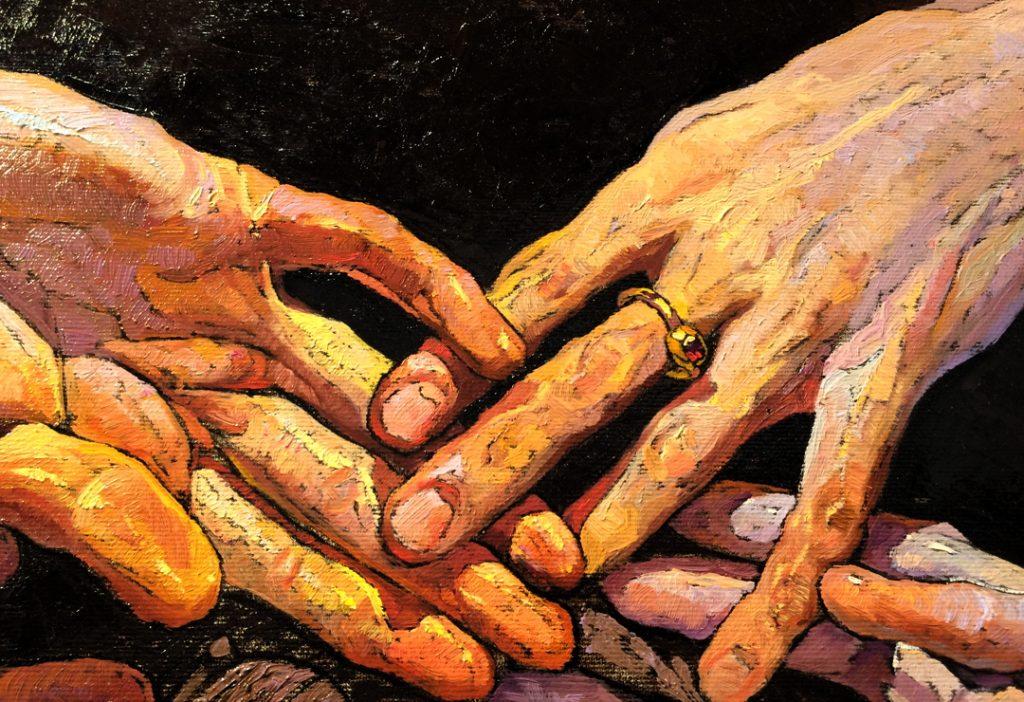 """Embodiment No. 16"" Hands Close-up, Denis Sarazhin"