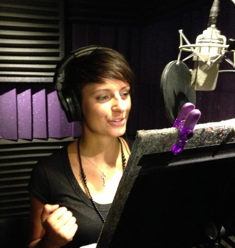 Radina Veliova at a Recording Studio