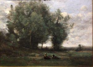 """Jean Baptist Camille Corot """"Le repos dans la prairie"""""""