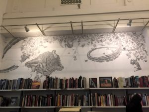 The Last Bookstore ArtRoom Graphite Mural