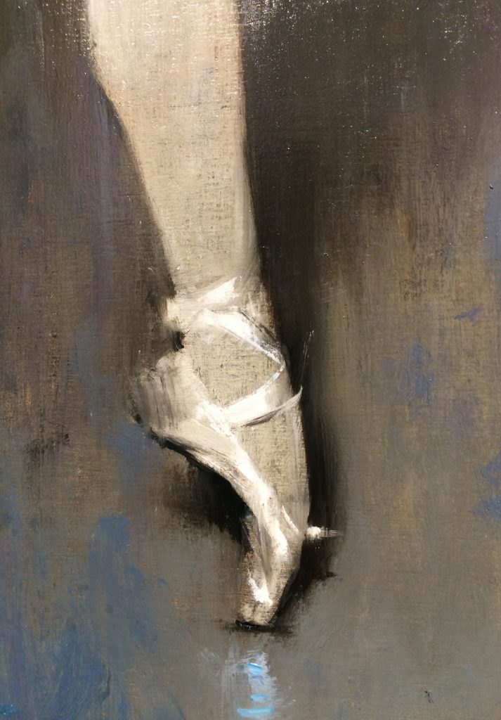 "Adam Vinson - ""Blue Boy"" - Oil on Panel - 18 x 18 inches"