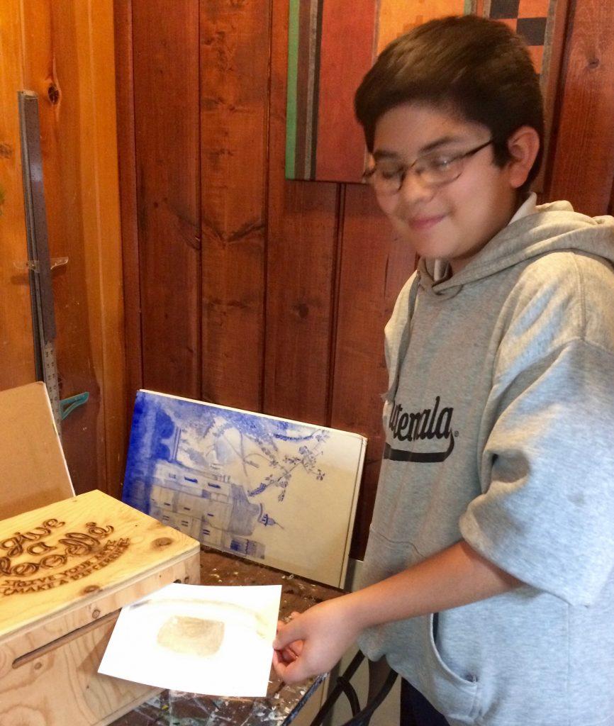 Pastimes for a Lifetime student, Andrés Luis M. donates a Doodle