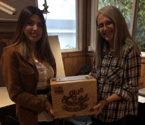 Miss Ani Mishigian and Linda Wehrli with the Doodle Box