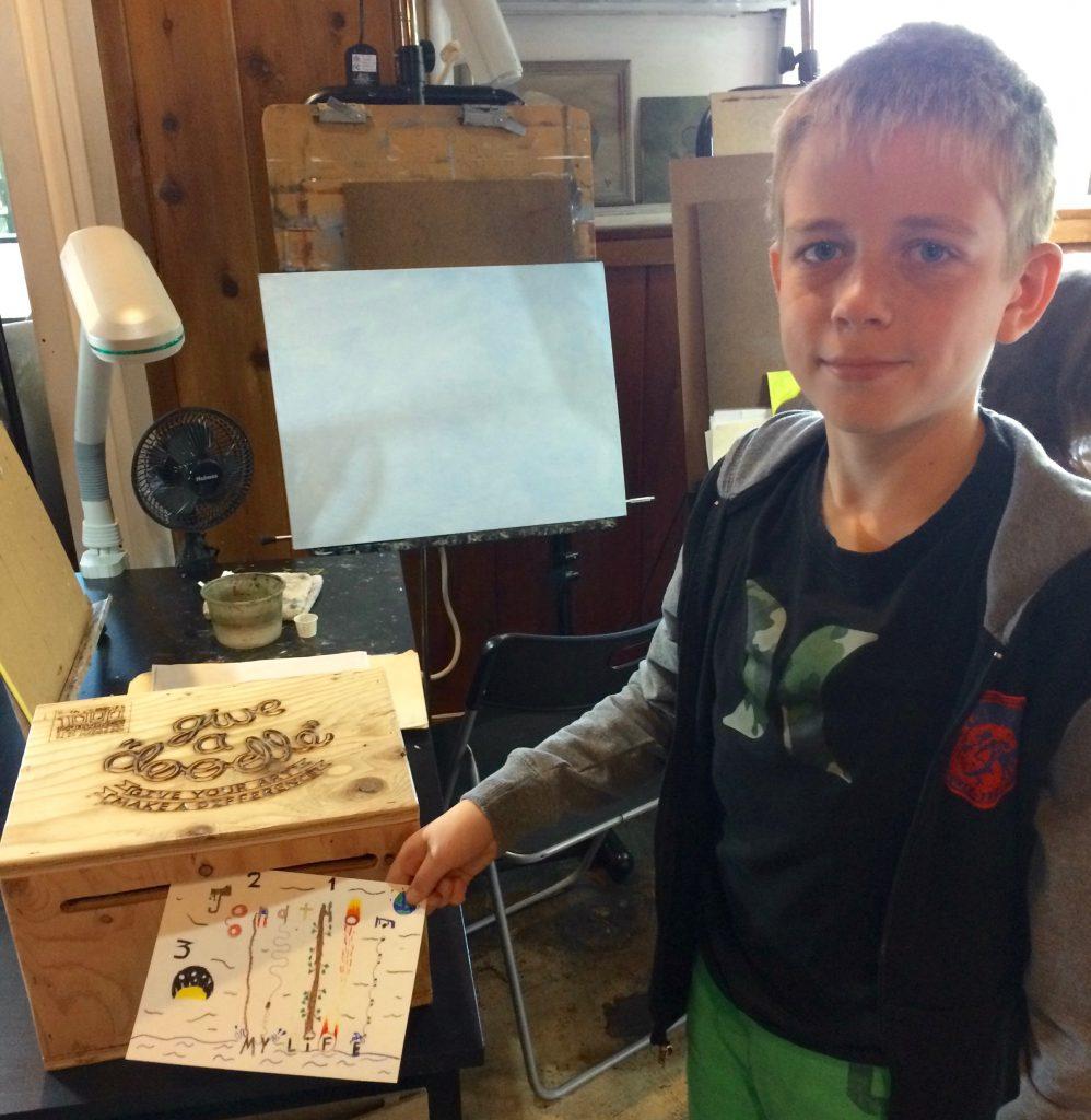 Pastimes for a Lifetime student, Jonathon B. donates a Doodle