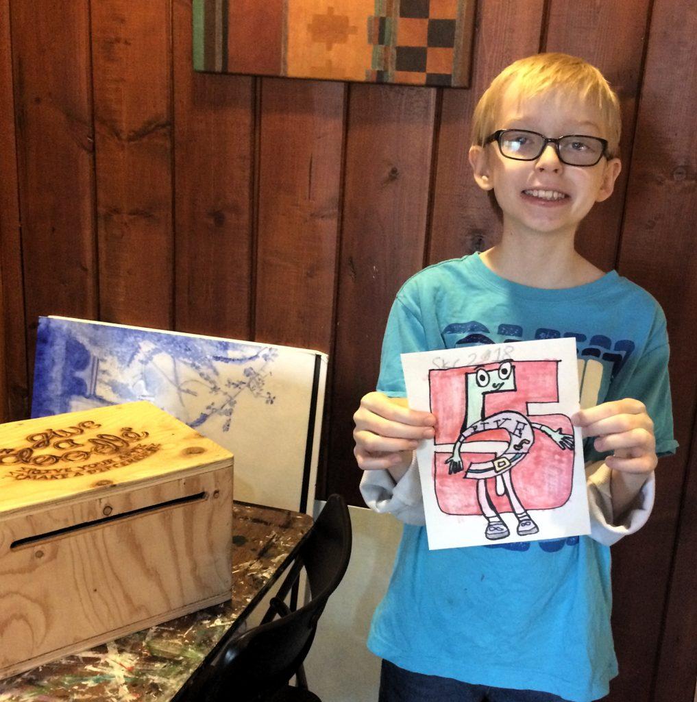 Pastimes for a Lifetime student Liam B. donates a doodle.