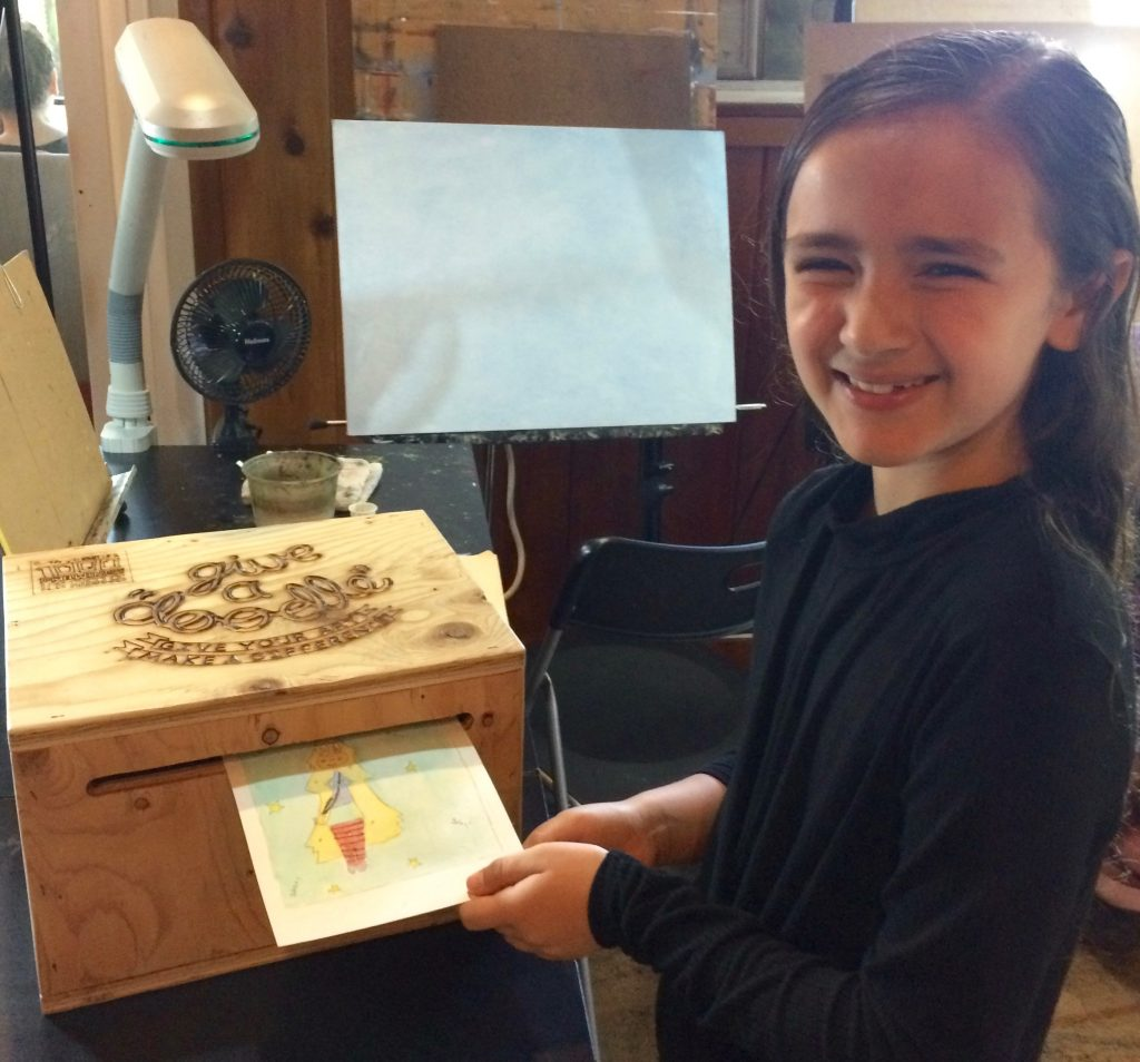 Pastimes for a Lifetime student, Naomi M. donates a Doodle