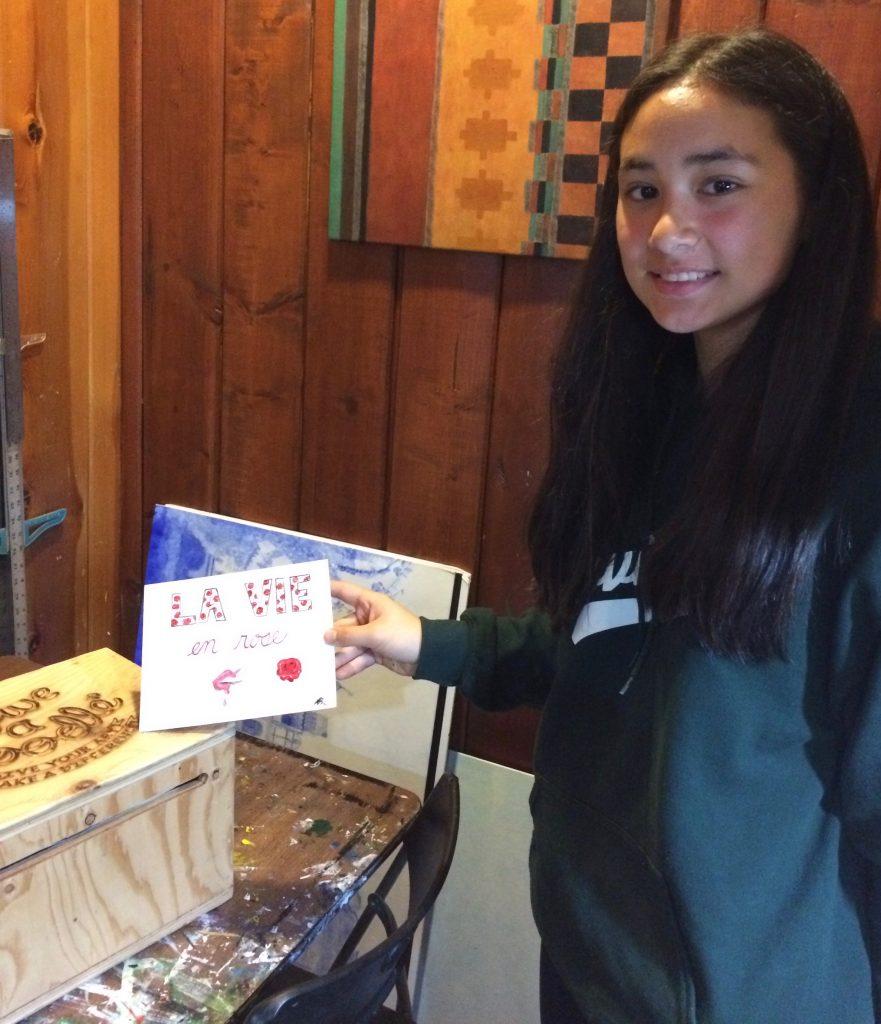 Pastimes for a Lifetime student, Samantha M. donates a Doodle