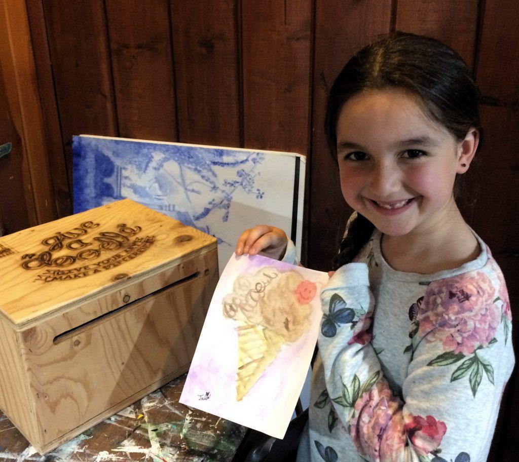 Pastimes for a Lifetime student Talia A. donates a doodle.