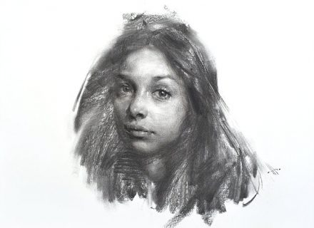 Zin Lim Charcoal Portrait Workshop at Pastimes for a Lifetime