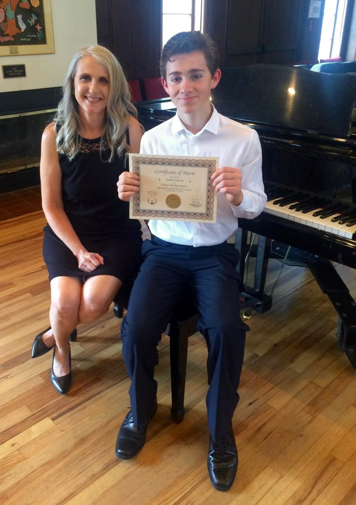 Aidan C. and Linda Wehrli, 2018 May Pastimes for a Lifetime Student Piano Concert