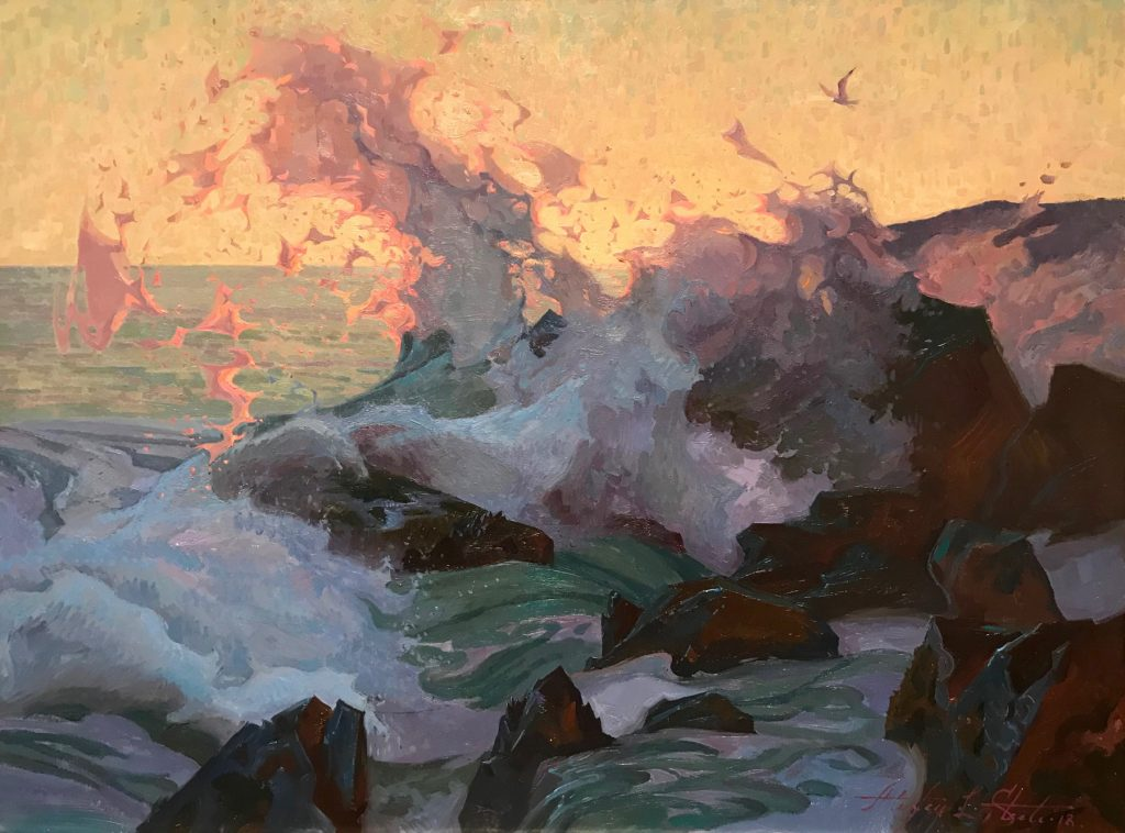 "Alexey Steele's ""The Wave"" Oil on Linen"